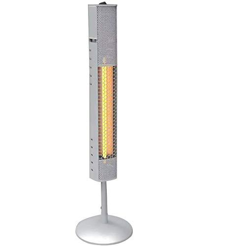 Outskirts Estufa de Infrarrojos Interior/Exterior Radiador Infrarrojo, Calentador de Pared, 800 W de Potencia, Emisión de Calor Dirigida, Reflector de Aluminio, Protección IP65,