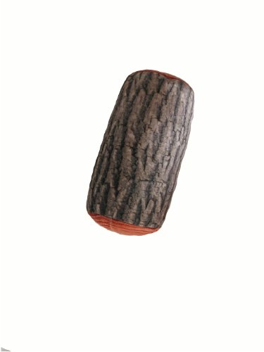 Tache Brown Log Cylinder Micro Bead Pillow Cushion Throw
