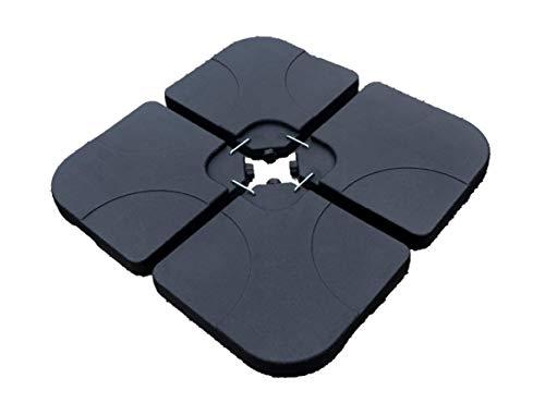 VARANGUE - Pie para sombrilla, Color Negro