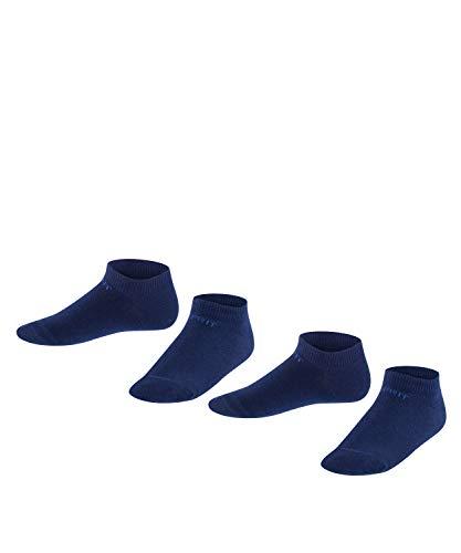 ESPRIT Unisex Kinder Sneakersocken Foot Logo 2-Pack, Baumwolle, 2er Pack, Blau (Marine 6120), 35-38 (9-12 Jahre)