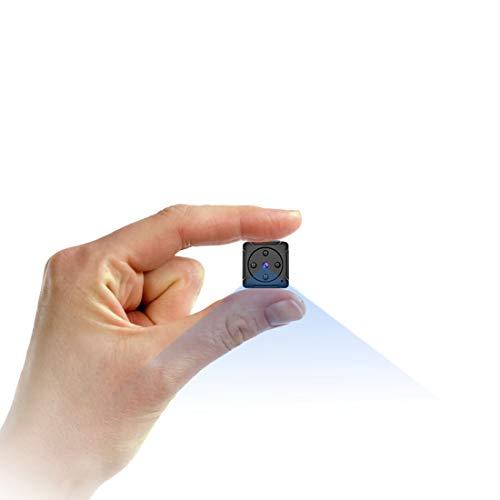Mini Camara Espia Oculta Video Cámara,NIYPS HD 1080P Camaras de Vigilancia Portátil Secreta Compacta con Detector de Movimiento IR Visión Nocturna, Camara Seguridad Pequeña Interior/Exterior