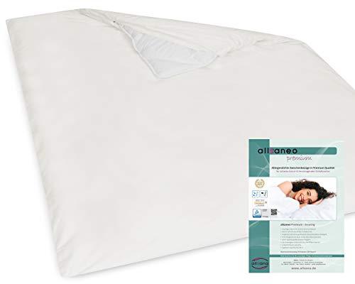 allsaneo Premium Encasing Deckenbezug 240x220 cm, Allergiker Bettwäsche extra weich und leicht, Anti-Milben Zwischenbezug für die Bettdecke