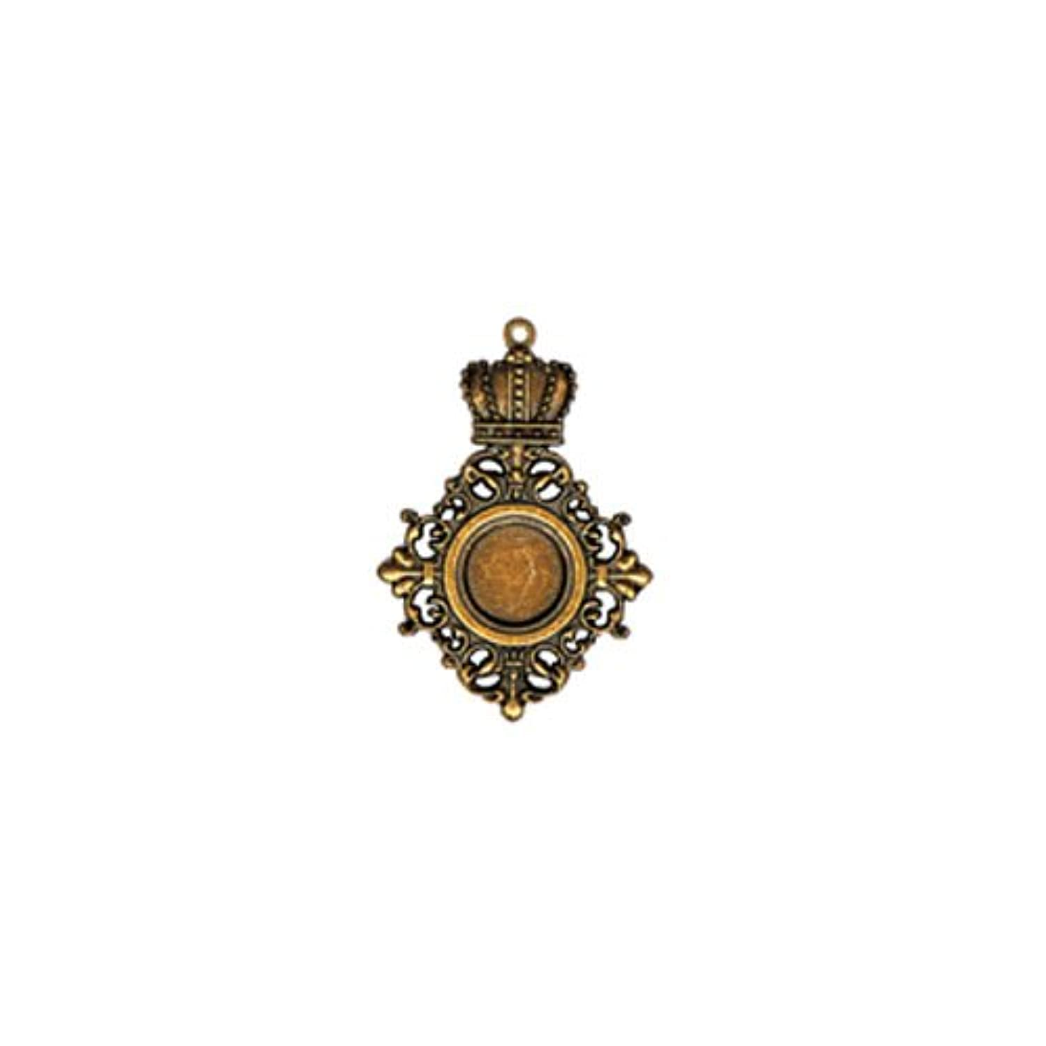 Spellbinders GL2-008 A Gilded Life Royal Medallion - Bronze Pendants