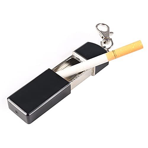 Newness Cenicero portátil, cenicero para Viajar cenicero de Cigarrillo con Tapa Llavero