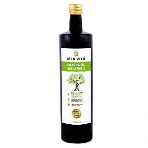MeaVita Olivenöl, extra nativ & kaltgepresst, 1er Pack (1x 1000ml)