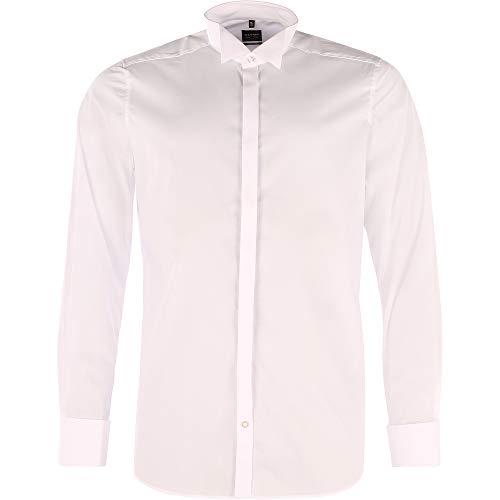 Olymp - Camicia da smoking da uomo Level 5, colletto classico, gemelli sui polsini, bianco 30776500 bianco 46