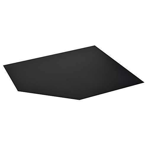 FIREFIX 1556/4 Stahlbodenplatte (Hitzeschutz Ofen), Vieleck-Bodenplatte (1.000 x 1.000 x 600 mm), 2 mm Starkes Stahlblech, Lackierung Senotherm UHT-Hydro-schwarz