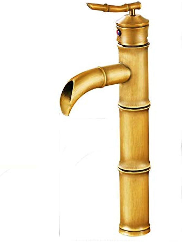 FENG LIAN Amerikanischen schwarzen bambus hohen abschnitt antiken wasserhahn bad Europischen stil kupfer heien und kalten bühne waschbecken wasserhahn (Farbe   A2)