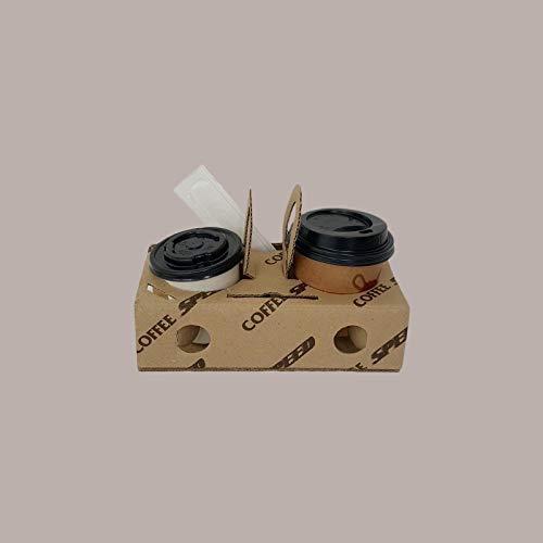 LUCGEL Srl 100 Porta Bicchieri Asporto Caffe Carta Cartone Coffee Speed ALIMENTARI Spazio Inserire Palettine Incartate Zucchero in bustina