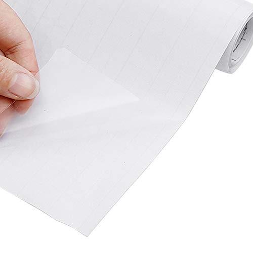 Inntek Klebefolie Selbstklebende Transparent Möbelfolie Spritzschutz Buchschutz Folie Oberflächenschutz Fliesenaufkleber für Badzimmer Küche Möbel Wasserdicht 40X500cm
