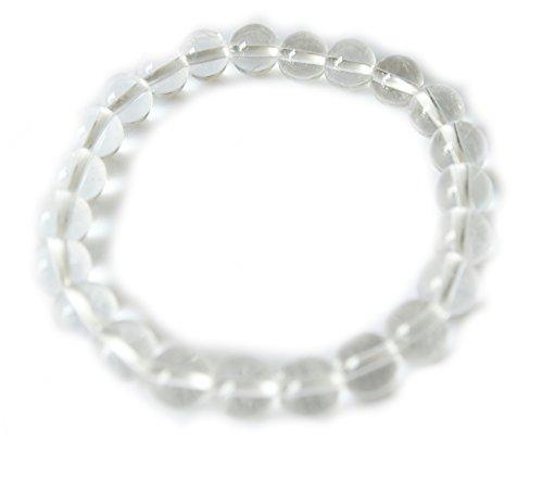 DCMA ジュエリー 数珠 8mm ブレスレット 白水晶 学業運 健康運 増加 財 厄 浄化 家族 繁栄 1点