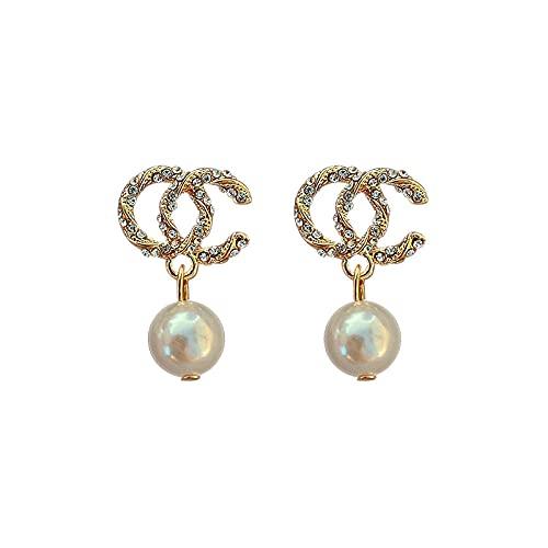 BeniPendientes Double C Pearl-dorado
