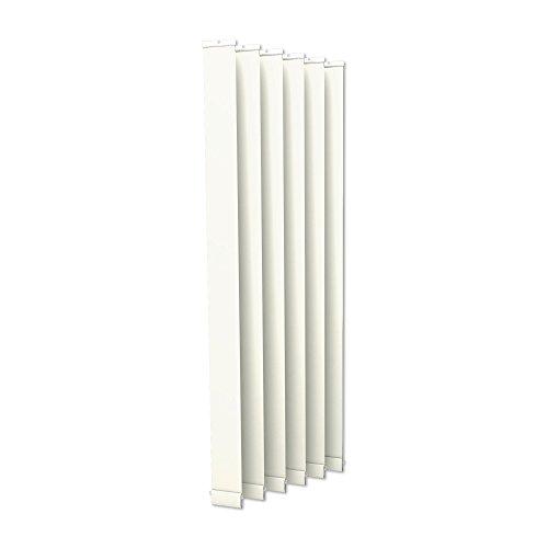 Victoria M. Cortina de Lamas Verticales, Isabella - I-Form, translúcido - 8,9 x 250 cm, Blanca | Paquete de 6