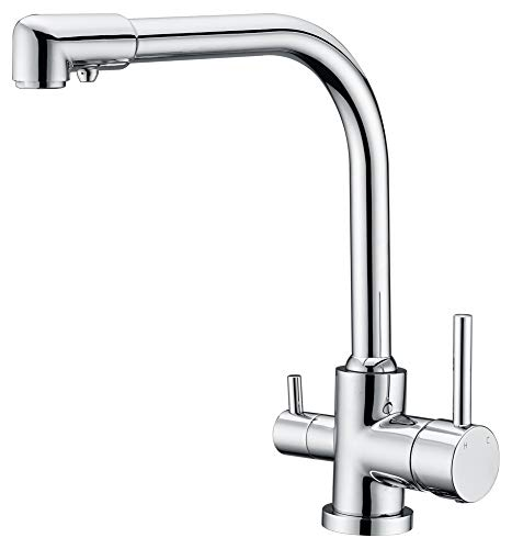 CAKIONG 3 weg Filter Keuken wastafel Tap RVS Loodvrije Tri Flow 3 in 1 Drinkwater Mixer Taps, Keuken Sink Tap Drinkwater Filter Tap Drinkwater Filter Tap