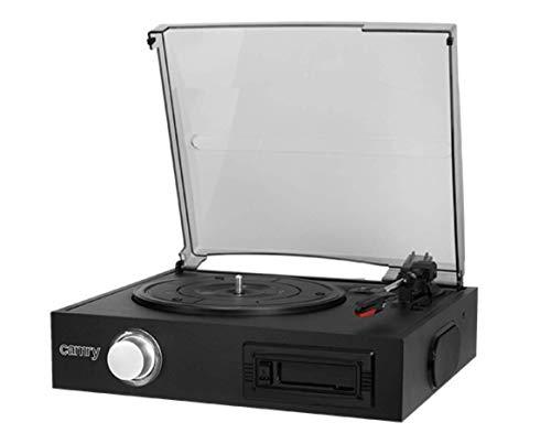 CAMRY Schallplattenspieler, Schwarz, 1
