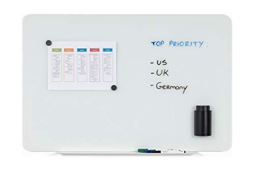 Bi-Office Quadro Branco Vidro Magnético 60x90cm - GL070101