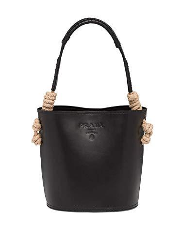 Prada Luxury Fashion Damen 1BE0502AIXF0002 Schwarz Leder Handtaschen | Frühling Sommer 20
