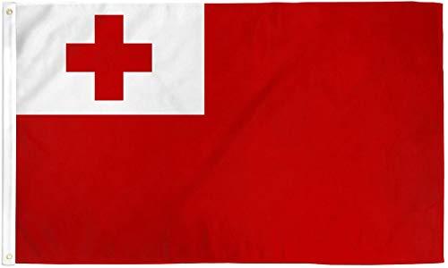 RUNADI Quality Standard Flags Tonga Polyester Flag, 3 by 5'