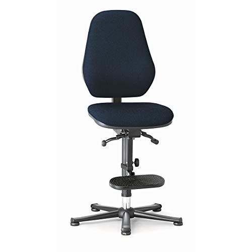 bimos Arbeitsdrehstuhl mit ESD-Schutz - mit Permanentkontakt - Gleiter, Aufstieghilfe, Stoffbezug blau - Arbeitsdrehstuhl Arbeitsdrehstühle Arbeitsstuhl Arbeitsstühle Drehstuhl Drehstühle ESD-Arbeitsstuhl ESD-Arbeitsstühle Polsterstuhl Polsterstühle Stuhl