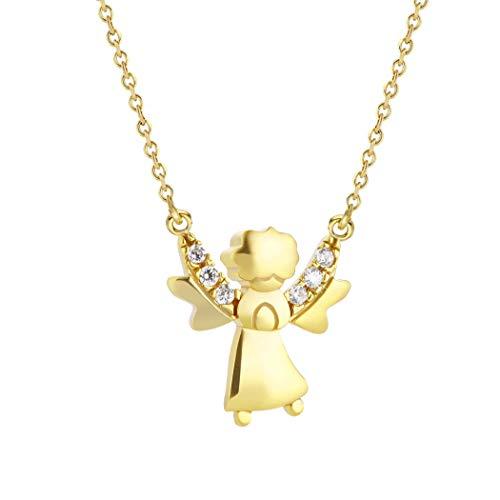 Collana in oro con angelo