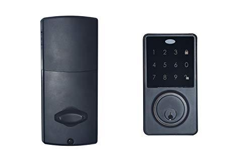 COLOSUS NDL 634 Keyless Entry Deadbolt Smart Door Lock with Auto-Lock, Anti-Theft, Touchscreen Keypad – Multiple Codes,, 2 Keys (Black)