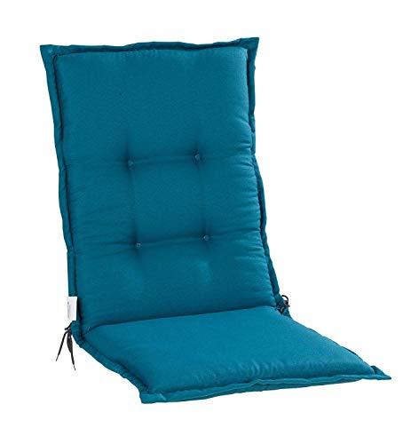 Nicht Zutreffend Sesselauflage Sitzpolster Gartenstuhlauflage für Mittellehner | 50 cm x 110 cm | Petrol | Polyester