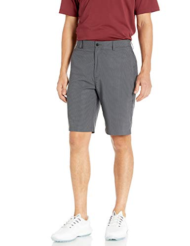 PGA TOUR Men's Two Tone Flat Front Golf Short with Active Waistband, Caviar, 36