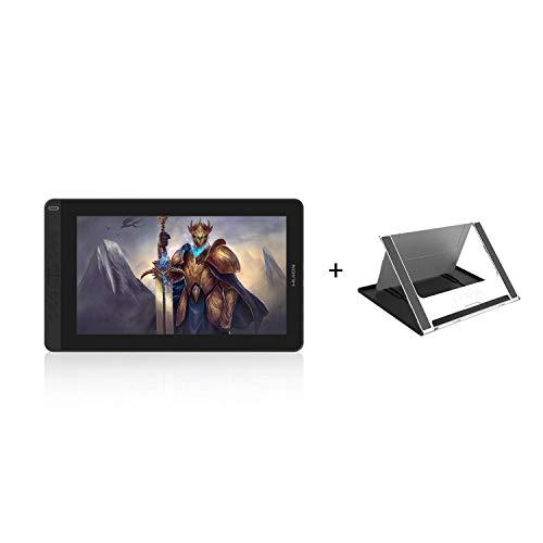2020 Huion Kamvas 13 Digital Drawing Tablet with Full-Laminated Screen Battery-Free Stylus PW517 Tilt 8 Shortcuts Keys Adjustable Stand, Black