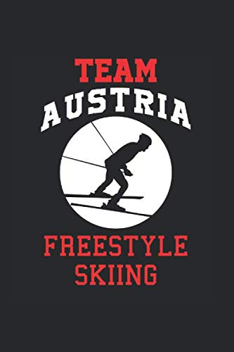 Team Austria Freestyle Skiing: Cool Animated Design For Ski Player Athletes Lover Any Occasion Notebook Composition Book Novelty