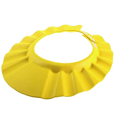 NIDONE Cap champú para bebés Ducha Ajustable Lavado de Pelo del Sombrero Suave Escudo para los niños Los niños Amarillo