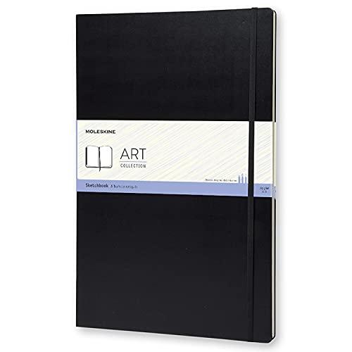 Moleskine Kreativ S31960 Notizbücher, Skizzenbuch, A3, 165G Papier, Hard Cover, schwarz