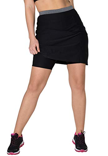 fullbeauty SPORT Women's Plus Size The Sport Skort - Black Melange, 18/20