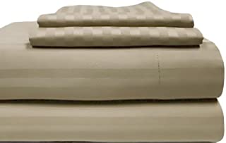 Charter Club Damask Stripe 500 Thread Count Queen Sheet Set Taupe