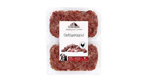 Tackenberg Barf Hundefutter (Geflügelragout), Barf Futter, Barf Fleisch Hund, Frischfleisch