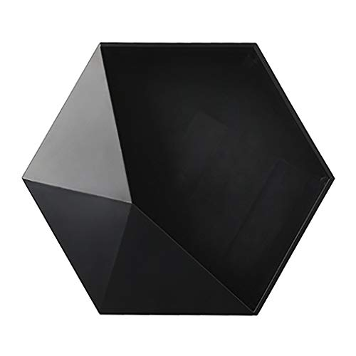 Stephen Decorative Shelves - Living Room Wall-Mounted Geometric Punch-Free Wall Decoration Bathroom Shelf Living Room Decoration Hexagon Storage Rack yl - by 1 PCs