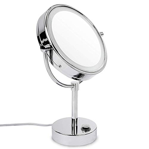 casa pura Miroir sur Pied avec LED | Rotation 360° | 3 degrés de grossissement - 7X