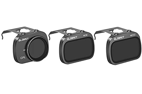 Globact Set di filtri ND per DJI Mavic Mini 2/Mavic Mini, filtro obiettivo fotocamera 3 pezzi (CPL,ND8,ND32)