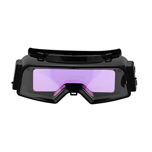 KKmoon Auto Darkening Schweißbrille Solar Auto Verdunkelung Sicherheitsschutz Schweißbrille Maske Helm TIG MIG MMA Brille Anti-Flog Blendschutzbrille