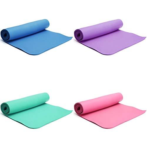 Multifunktions- Weiches Pilates Mat Anti-Rutsch-Feuchtigkeitsbeständig Schlaf Matratze Sport NBR Anti-Rutsch-Yoga-Matten-Startseite Isomatte Komfortabel (Color : Blue)