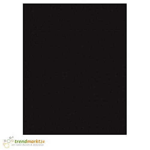 trendmarkt24 Tonkarton Schwarz 50 x 70 cm, 10 Blatt 220g/m² Schulpapier Kinder-Garten-Papier Bastelpapier Bastelkarton Tonpapier farbig 50x70 cm   220 g/qm Einfarbig auf beiden Seiten   2290