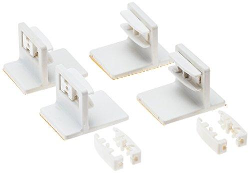 K-home 4er Set Klebeträger für die Befestigung von verspannten Plissees auf dem Fensterrahmen