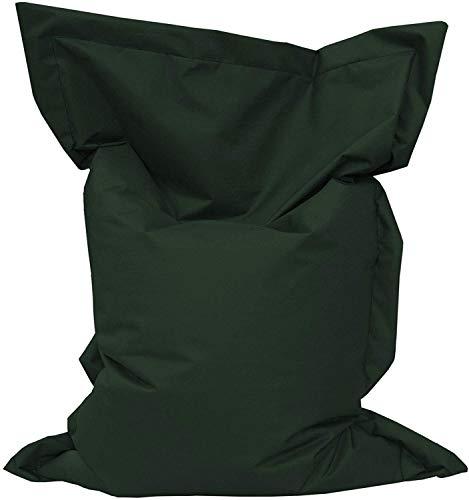 Giant Bag Sitzsack GiantBag Chill Out Liege & Sitzkissen Indoor & Outdoor Tobekissen Bodenkissen Sessel für Kinder & Erwachsene (160 x 120 cm, Dunkelgrün)