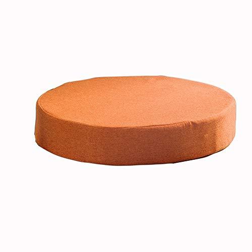Almohadillas redondas para sillas de comedor, cocina, jardín, cojines gruesos, antideslizantes, para exteriores, cojines de asiento de oficina, lavables (40 x 40 x 5 cm, naranja)