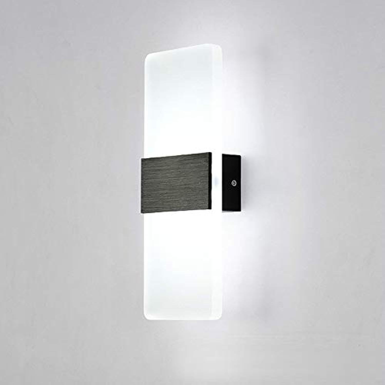 XY&XH Wandlampe, Moderne Wand-Wandlampen-Wandleuchte der Wand-Innenwand-Acryl-Wandlampe 85-265V LED 6W warmes weies kaltes Wei für Schlafzimmer-Korridor-Treppe, kaltes Wei