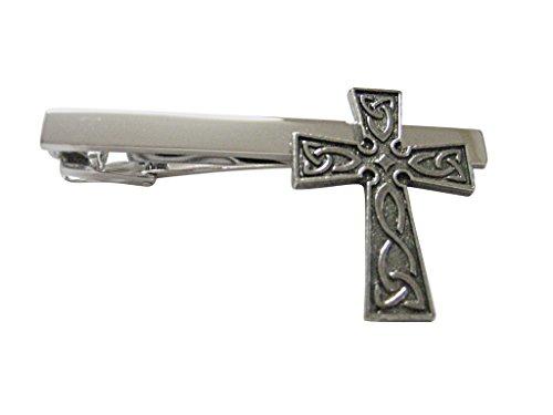 Celtic Design Large Cross Square Tie Clip