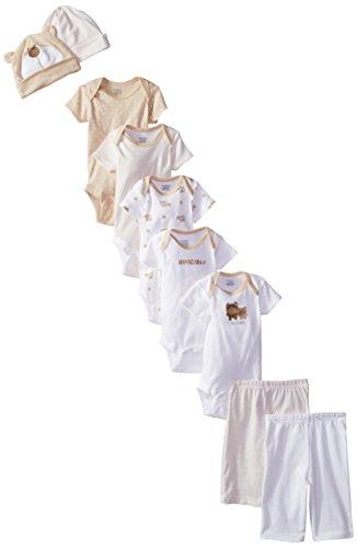 Gerber Unisex-Baby Newborn Bear 9 Piece Playwear Bundle, Bear, 3-6 Months