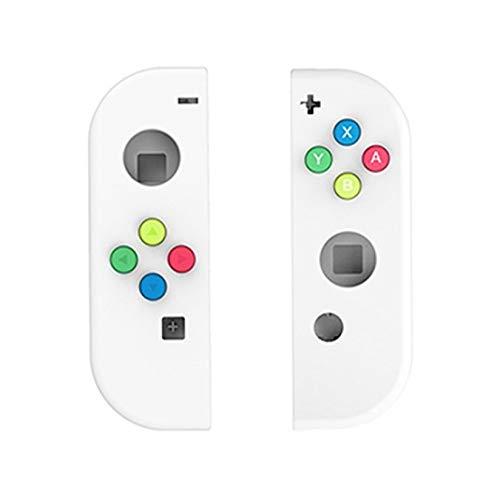 SHEAWA Nintendo Switch Joy-Con用 交換ケース ボタンカバー付 改造 修理 着せ替えケース カバー ニンテンドー スイッチジョイコン (ホワイト)