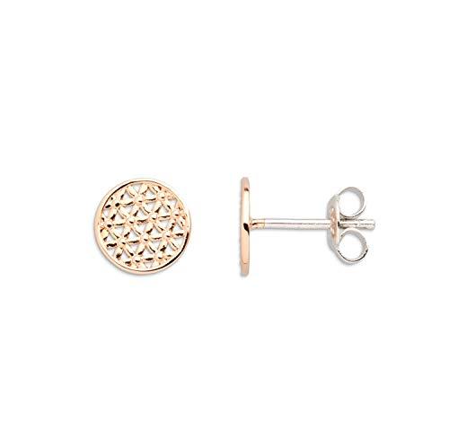 XENOX Ohrringe XS2911R Damen Ohrstecker Lebensblume Symbolic Power Sterling-Silber 925 Rose