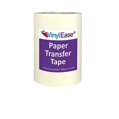Vinyl Ease 6 inch x 100 feet roll of Paper Transfer Tape with a Medium to High Tack Layflat Adhesive. Works with a Variety of Vinyl. Great for Decals, Signs, Wall Words and More. American Made V0820