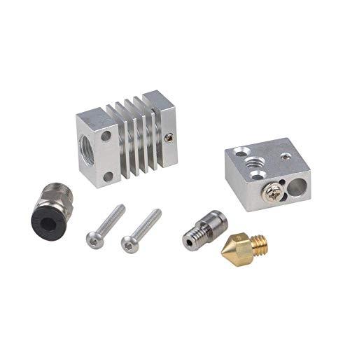 JIAHONG Accessories 4.1MM V6 Through Hole Silver All Metal J-Head Hotend Remote Extruder Set for 3D Printer 3D Printer